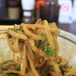 濃厚担々麺はなび - 全粒粉太麺
