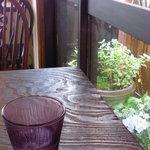neiro cafe - 窓際のテーブルからは紫陽花が咲いていました