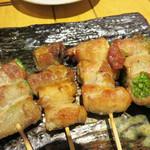 東京焼鳥と野菜巻きの店 Hayato to Hinata - 野菜巻き串も色々頼んでみました。