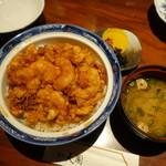 銀座 天國 - 天國特製かき揚丼
