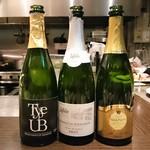 78904115 - 乾杯で使った3種類の泡 Rurale Type UB 2014 白 ヒトミワイナリー(滋賀)、Jaffelin Crémant de Bourgogne Brut(仏)、RUHLMANN Crémant d'Alsace Brut(仏)