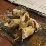四季遊人  - 奈良漬けとクリームチーズの生湯葉巻き