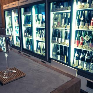 日本酒はグラス1杯400円からとリーズナブル!