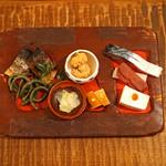 東白庵かりべ - 前菜盛合せ