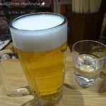 関西 風来軒 - 生ビール(450円)