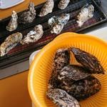 玉名の牡蠣小屋 - 焼き牡蠣♪♪