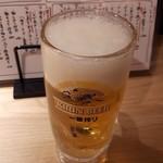 立ち呑み 卯の助 - 生ビール ¥199