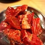 焼肉酒楽JyuJyu - 厚切りハラミ¥680 この肉肉しさたまりません˚‧*♡ॢ˃̶̤̀◡˂̶̤́♡ॢ*‧˚
