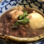TAKAMIOKAKI - 2種類のつきたて焼き立てのお餅と、北海道産大粒大納言、大葉が引き締めます(2018.1.4)
