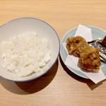 うまい麺には福来たる - Aセット 唐あげ+ライス