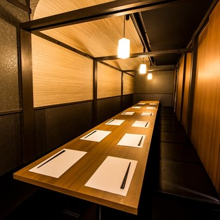 団体様でもお席はゆったりお使いいただけます♪完全個室多数!!