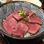 悠流里 - 村上牛炙り丼(1850円)