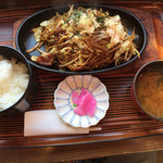 よしの瀬 - 本日のランチ(焼きそばランチ780円)