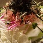 炭火焼鳥専門店 まさや - シャキシャキ白菜!「まさやサラダ」