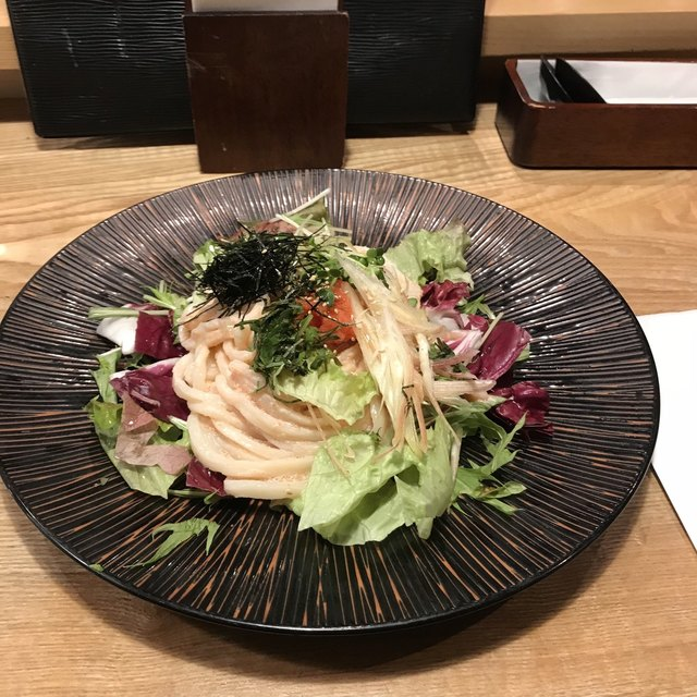 あんぷく - サラダ明太子うどん。 税込900円。 美味し。