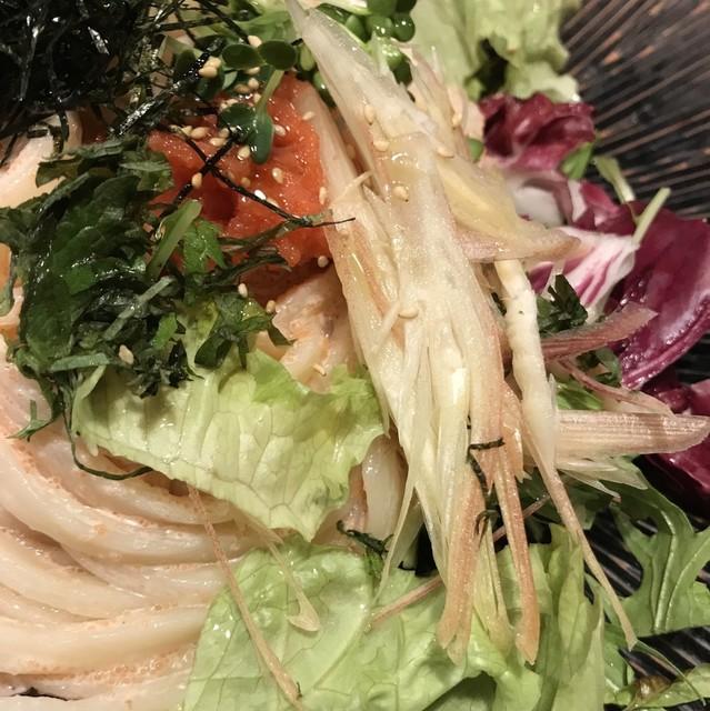 あんぷく - サラダ明太子うどん。 美味し。