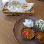 アサ インディアン カフェ アンド ダイニング - 料理写真:ダブルカレーランチ(╹◡╹)♡