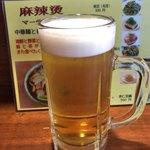 隆意小吃店 - 生ビール(480円)