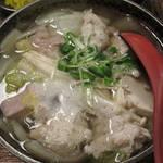 なにわ亭 - 【北新地でランチ】 鶏鍋 \850