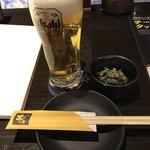 土間土間 - 生ビール・お通し