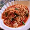 シャンドール - 料理写真:トマトソースのカテゴリから、海老と貝柱のパスタ。