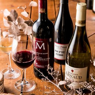 ☆自然派ワインを中心とした充実のワインリスト☆
