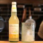 Homemade Ramen 麦苗 - オーガニックソーダ:シチリアレモンソーダ。酸っぱいけど美味しい。食後に出していただけます。