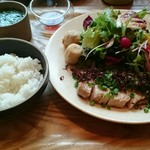 ズイウン ダイニング - 国産豚肉のローストプレート。