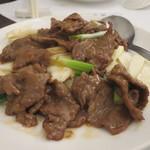 人和園雲南菜 - マコモダケと牛肉炒め328元