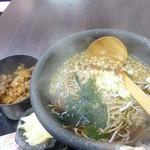 もつ焼串 山形肉問屋センター - 山形そば(並)