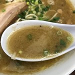 三三七 - 【2018.1.2】塩分濃度高めの鶏魚介スープ。