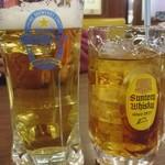三宝亭 - 生ビールを頼んだら無料でドリンクがついてきました♡