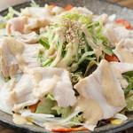 お肉と魚と貝のどれもこれも - 冷しゃぶサラダ
