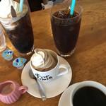 78941631 - アイスコーヒー、砂場ソフト、ホット、コーラフロート