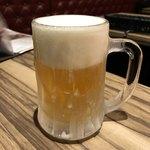 78943871 - ビールはジョッキが凍ってます。