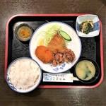 気まぐれ - 日暮里・四季旬菜氣まぐれ鶏からミックス(アジ・コロッケ・とりから)780円