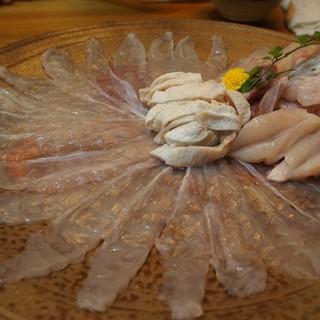 露石 - 料理写真:てっちり(しゃぶしゃぶ)