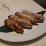 マーライオン - 鳥モモ肉の紙包み揚げ