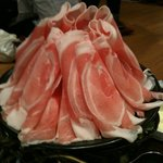 とん豚テジ - カンナ3段バラ 横から