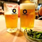 食事処かもきみ - ビール大とメガ♡