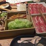 78950228 - 野菜やほかのお肉も食べ放題