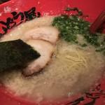 78950327 - 味玉ラーメン 背油まみれ 細麺