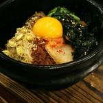 牛角 - 料理写真:石焼きビビンバ