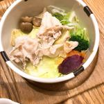 九州 弁天堂 - りんどうポークと温野菜せいろ