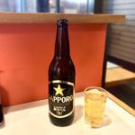 ファイト餃子 - 瓶ビール・中瓶・サッポロ黒ラベル・630円