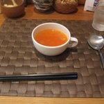 グリル末松 - 料理写真:最初にスープが出てきます
