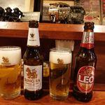 タイ東北料理イサーンキッチン - タイビールの飲み比べ