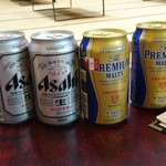 生涯青春の湯 つるつる温泉 お食事処 - 自販機の缶ビール