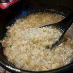 78979079 - 海老のスープを吸ったお米がとても美味しい!塩加減もちょうど良く、体も温まりました。