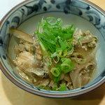 徳多和良 - アナゴとごぼうの卵とじ